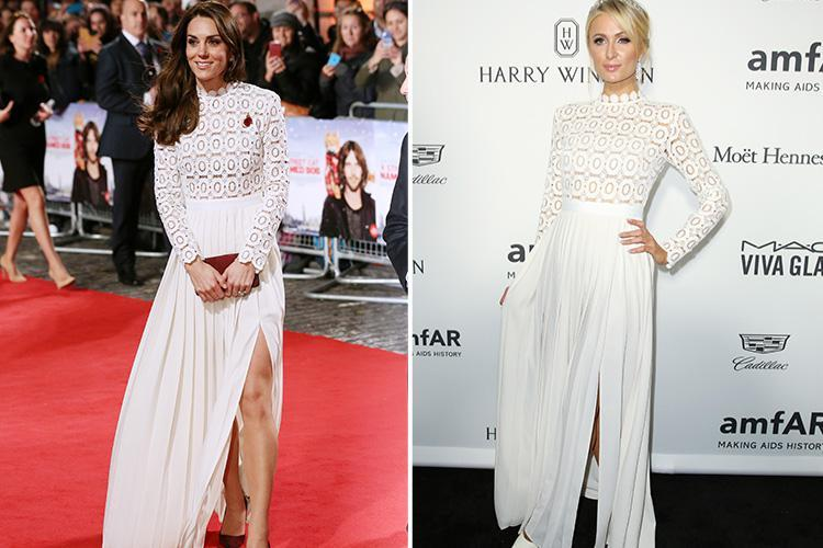 Kate Middleton and Paris Hilton are just two of the stars who rocked the same dress in 2016… so who