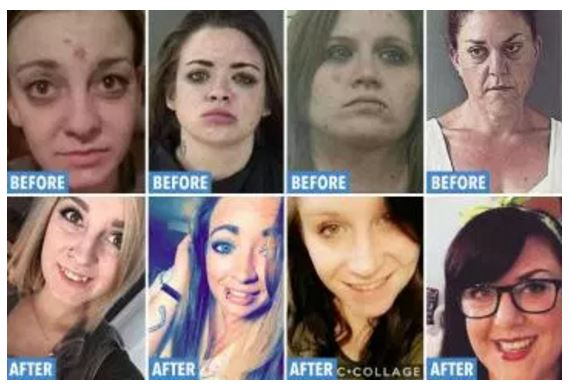 Shocking before and after drug addiction photos show devastation of addiction